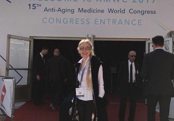 Кудинова Е.С. на конгрессе в Монако